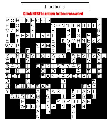 Crossword on Tradition