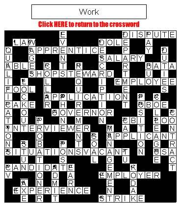 Crossword on Work